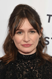 Emily Mortimer looked retro-chic wearing this half-up style with a teased crown at the Tribeca Film Festival screening of 'To Dust.'