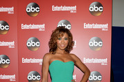 Toks Olagundoye Strapless Dress