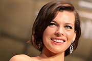 Milla Jovovich wore her bob smooth and shiny at the Tokyo International Film Festival.