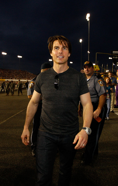 Tom Cruise Oversized Watch [tom cruise,standing,night,t-shirt,human,cool,muscle,outerwear,crowd,event,photography,chevy rock roll 400,nascar sprint cup series,richmond international raceway,pit road,virginia]