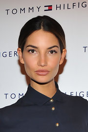 Lily Aldridge kept it classic with this center-parted bun during the Men of New York celebration.