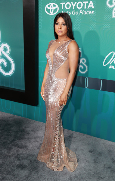 Toni Braxton Beaded Dress