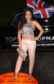Chritina Milian's crop top was fun and flirty but still had a classy vibe with a metallic sheen to it.
