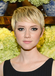 Valorie Curry sported a super-chic textured pixie during the Tory Burch Rodeo Drive opening.