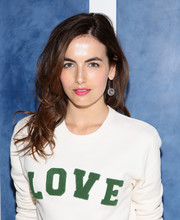 Camilla Belle looked fab with her tousled waves at the Tory Sport store opening.