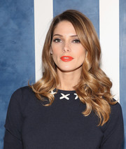 Ashley Greene's orange lippy was the perfect finishing touch to her look.