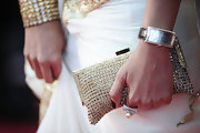 One of Deepika Padukone's accessories at the Cannes Film Festival was an elegant rectangular-faced Sterling Silver watch.