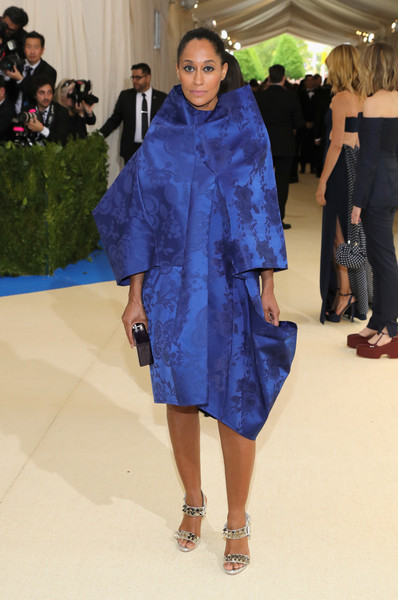 Tracee Ellis Ross Studded Heels [rei kawakubo/comme des garcons: art of the in-between,blue,fashion model,catwalk,fashion,runway,flooring,fashion show,outerwear,electric blue,haute couture,costume institute gala - arrivals,tracee ellis ross,new york city,metropolitan museum of art,costume institute gala]