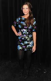 Erin shimmered at the Tracy Reese fashion show in a sequin saturated floral frock.