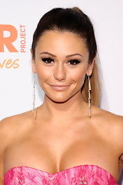 JWoww wore a sleek and straight ponytail to the TrevorLIVE Event in NYC.