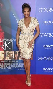 Vivica looked stellar in this deep-plunging cocktail dress at the Hollywood premiere of 'Sparkle.'