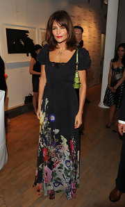 The ceaselessly beautiful Helena Christensen made an appearance at the Tribeca Ball in this print maxi-dress.