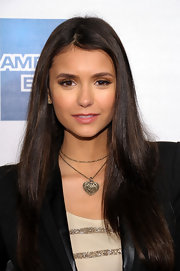 Nina Dobrev wore a palette of neutral shadows to accent her eyes at the 2011 Tribeca Film Festival premiere of 'Last Night.'