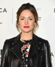 Rose Byrne styled her hair into a messy-chic updo for the Tribeca Film Fest premiere of 'Hair.'
