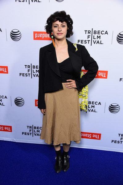 More Pics of Alia Shawkat Short Curls (1 of 3) - Alia Shawkat Lookbook - StyleBistro [tribeca film festival celebrates the 2015 tribeca film festival program and tribeca films 2015 upcoming releases - arrivals,carpet,premiere,fashion,red carpet,footwear,flooring,outerwear,event,dress,fashion design,alia shawkat,west hollywood,california,the standard]