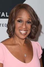 Gayle King wore her hair in a wavy bob at the Tribeca TV Festival.