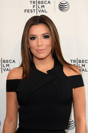 Eva Longoria sported sleek straight layers at the Tribeca Talks/ESPN Sports Film Festival.