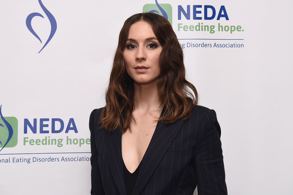 Troian Bellisario Medium Wavy Cut [face,beauty,yellow,fashion,white-collar worker,electric blue,spokesperson,businessperson,long hair,television presenter,troian bellisario,an evening unmasking eating disorders,the pierre hotel,new york city,the national eating disorder association,national eating disorder association hosts 15th annual benefit gala,annual benefit gala]