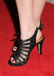 Liana Liberato wore sexy strappy heels during the Toronto International Film Festival.