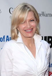 Diane Sawyer wore her hair in a basic straight style with side-swept bangs at the 'Twelfth Night' opening gala.