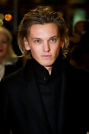 Jamie Campbell Bower looked gorgeous at the premiere of 'Breaking Dawn,' even with disheveled hair.