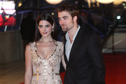 Ashley Greene and Robert Pattinson arrive at the Square where they'll attend the Brussels premiere of