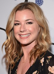 Emily VanCamp looked sweet with her shoulder-length waves at the Tyler Ellis 5th anniversary celebration.