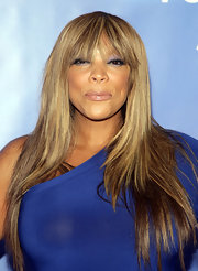 Wendy Williams opted for a straight hairstyle with wispy bangs.