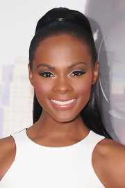 Tika Sumpter swept her hair up in a high ponytail for the premiere of 'Tyler Perry's Madea's Witness Protection.'