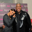 Tyra Banks and Andre Leon Talley
