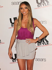 Giuliana added a subtle touch to her ensemble with a simple chic bracelet at the UK Style French Connection launch at Sears.