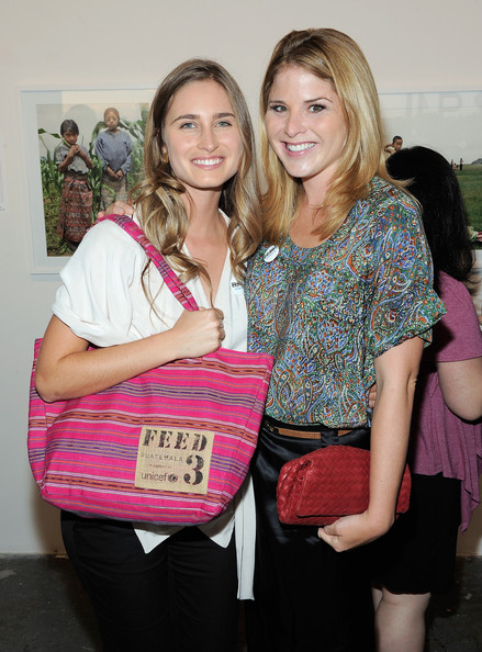 Jenna Bush looked beautiful in a multicolored paisley print loose blouse at UNICEF's Next Generation Photo Benefit.