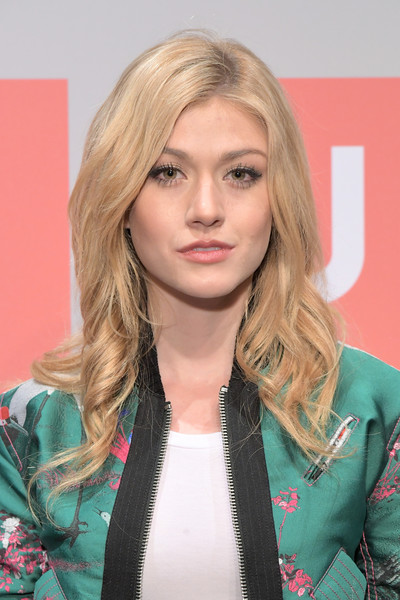 Katherine McNamara was gorgeously coiffed with this wavy style at the Uniqlo 2019 collections celebration.