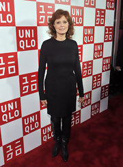 Susan Sarandon opted for a classic LBD for her red carpet look at the UNIQLO opening at 5th Avenue.