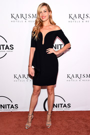 Petra Nemcova styled her dress with elegant silver heels.