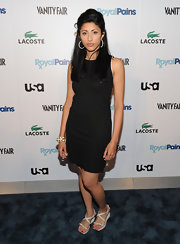 Reshma Shetty chose a basic black sheath for the 'Royal Pains' Season Two kick-off event.