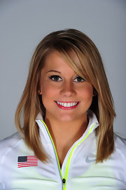 Not a strand was out of place when Shawn Johnson had her USOC portrait taken.