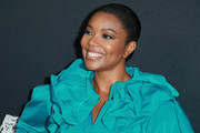 Gabrielle Union went for a simple and classic bun when she attended the special screening of 'Breaking In.'