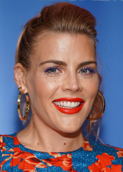 Busy Philipps styled her hair into a pompadour ponytail for the 'Unbreakable Kimmy Schmidt' FYC event.