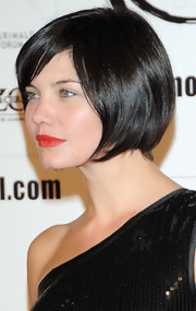 Delphine Chaneac looked edgy with her black bob at the 'Up In The Air' premiere.