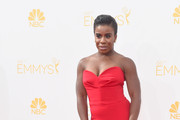 Uzo Aduba Strapless Dress