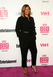 Queen Latifah kept it relaxed yet sophisticated in a ruffled black jumpsuit when she attended the VH1 Big in 2015 Awards.