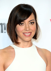 Aubrey Plaza sported a cute bob with side-swept bangs at the VH1 Big in 2015 Awards.
