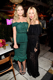 Rachel Zoe sweetened it up in a black lace off-the-shoulder gown at the 'Barely Famous' season 2 party.