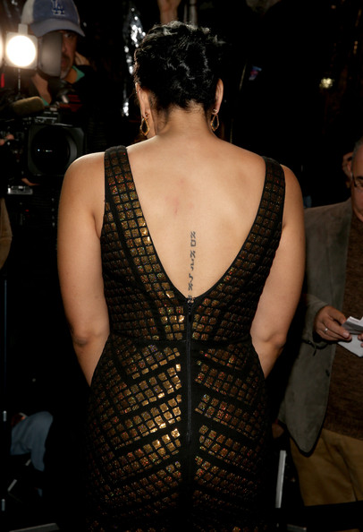 More Pics of Jordin Sparks Lettering Tattoo (1 of 23) - Lettering Tattoo Lookbook - StyleBistro