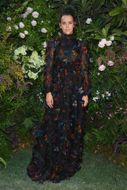 Pauline Ducruet charmed in a butterfly-print gown at the Valentino Couture Fall 2018 show.