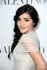 Isabelle Fuhrman wore her long hair in a sweet side braid at the Valentino store opening in Beverly Hills.
