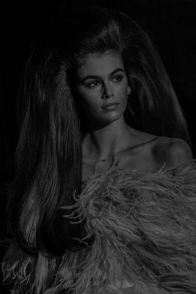 More Pics of Kaia Gerber Off-the-Shoulder Dress (1 of 11) - Dresses & Skirts Lookbook - StyleBistro [image,hair,face,black,beauty,lady,lip,model,black-and-white,long hair,hairstyle,kaia gerber,filters,part,runway,paris,france,valentino haute couture fall winter 2018,valentino: runway - paris fashion week,show]