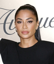 Nicole Scherzinger wore her hair in an elegant ponytail at the Vanity Fair 2019 Best Dressed List event.