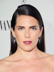 Karla Souza attended the Fiat Young Hollywood celebration wearing a slicked-down straight 'do.